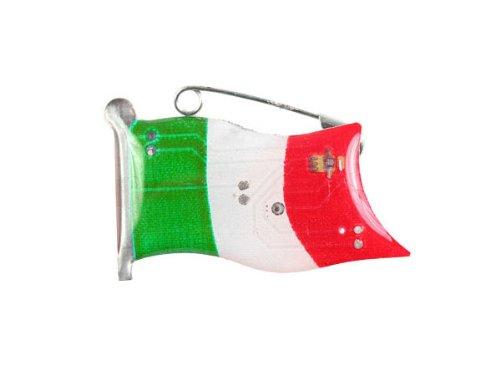 Blinki LED Anstecker Blinky Brosche LED Pin Button viele Motive, wählen:Flagge Italien 102