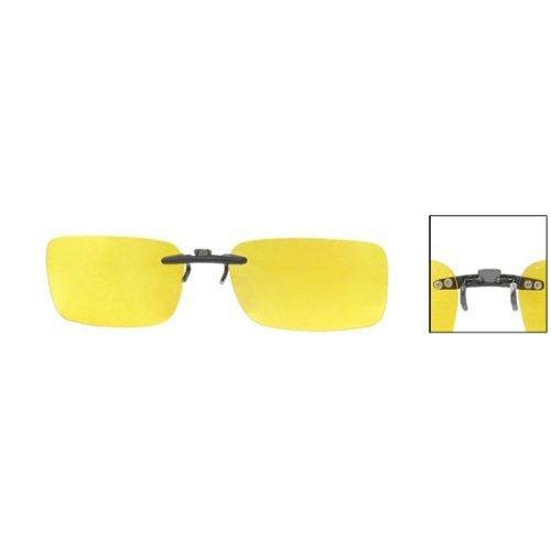 Gute Brille (Little Sporter Unisex Polarisierte Überbrille Sonnenbrille Clip Brillen für Brillenträger Überzieh Sonnenbrille Schützen Sie Ihre Augen Gelb)