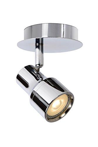 Lucide Foco de Techo LED–Sirena–Diámetro 10Cm–LED DIM.–GU10–2x 4,5W 3000K–IP44, metal, chrome, GU10...