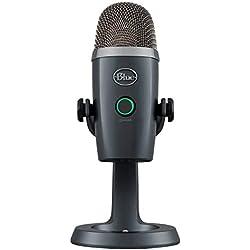 Blue Yeti Nano Premium - Micrófono USB para grabación y transmisión, color gris