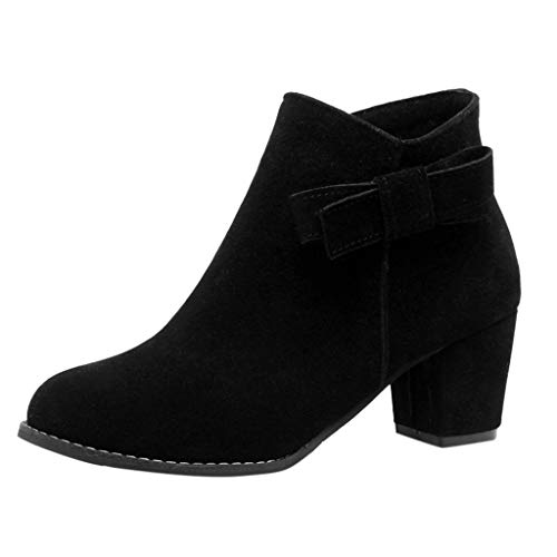 NMERWT Damen Plateau Stiefeletten Absatz Ankle Boots Herbst High Heels Schuhe mit Reißverschluss Damenstiefel Mode Dick Mit Reißverschluss Stiefeletten Bogen High Heel Schuhe