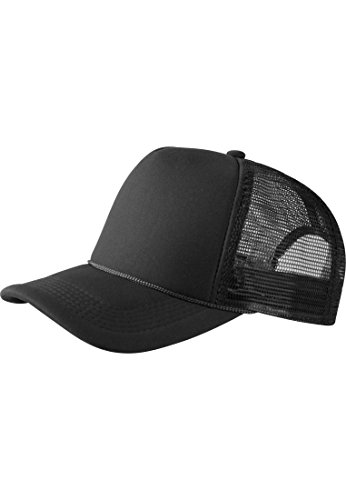 MASTERDIS Baseball Cap Trucker high profile, black, One Size