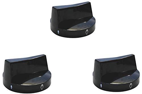 YOURGRILL Premium 3er Set Knebel Drehknebel Knebel für Gasgrills Gasbräter universal Gastrogrill halbseitig eingelassen auf Gashahn mit 8 mm Durchmesser Qualitätsersatzteil im günstigem 3 Pack