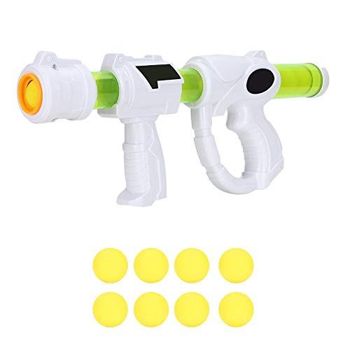 Tnfeeon Aerodynamische Kinder Pistole Spielzeug Power Popper Gun mit 8 weichen Kugeln Schaum Ball Air Powered Shooter Spielzeug für Kinder Rollenspiele -