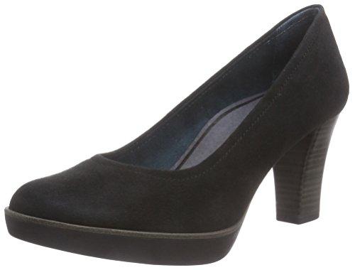 Tamaris 22425, Chaussures à talons - Avant du pieds couvert femme Noir