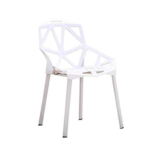 YJLGRYF Kunststoff Barstuhl, Persönlichkeit Kreative Esszimmerstuhl mit Rückenlehne Lounge Stuhl mit Armlehnen Empfangsstuhl Frühstück Barhocker Schwarz Weiß, für Küche, Restaurant, Café, Bar (Größe: - Schwarz Klassischer Barhocker