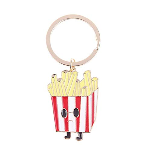 Hosaire 1x Pommes frittes Anhänger Schlüsselanhänger Auto Schlüsselbund Keychain kreative Geschenk Deko Anhänger 4.4 * 3.1cm