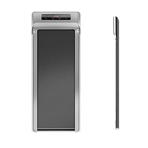 MMSZFitness Tapis Roulant Salvaspazio,con Smart App con Telecomando,Mini Tapis Roulant Piatto con Ruote di Trasporto Max 120 kg,Motore Rumore Basso a Risparmio Energetico,Silver