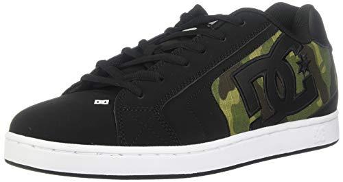 Camo Leder Skate Schuhe (DC Herren Net Se-K, Black/Camo Print, 49 EU)