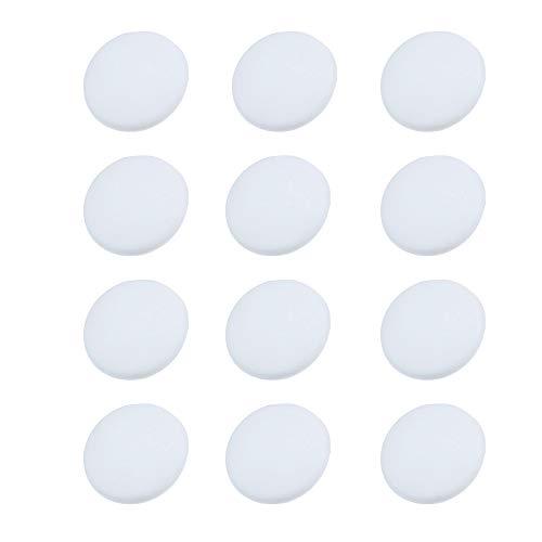 JWShang 12 Stück Wandschutz rund weiß selbstklebend Wandschutz Stopper Türgriff Schreibtisch Stoßstange Gummi Stopper