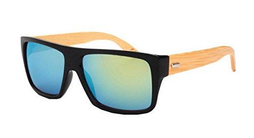 Unisex Klassische Holzbein Retro Polarisierten UV400 Sonnenbrille