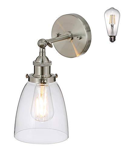 XiNBEi Lámparas 1 Lámpara De Pared Interior Vidrio Ligero, Aplique De Pared...