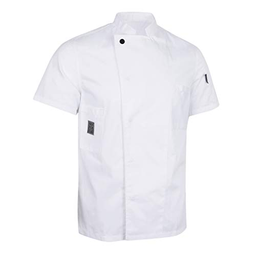 Baoblaze Cappotto Cameriere Manica Corta Cuoco Abbigliamento da Uomo Donne  Chef - Bianca aeea1e049aef