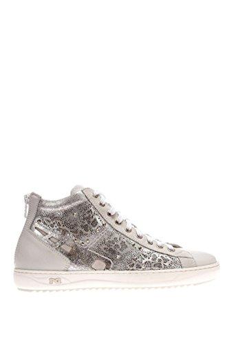 P615241D-707.Sneaker alta in pelle.Bianco.37