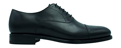 Berwick Herren Schuh Oxford Boxcalf schwarz - 41 Cap Toe Oxford Cap