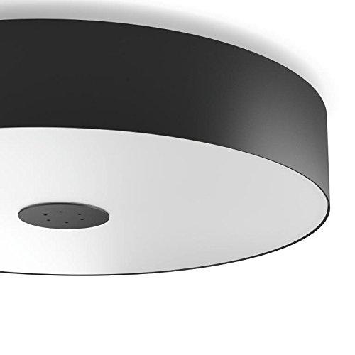Philips Hue LED Deckenleuchte Fair inkl. Dimmschalter, dimmbar, alle Weißschattierungen, steuerbar via App, schwarz, kompatibel mit Amazon Alexa
