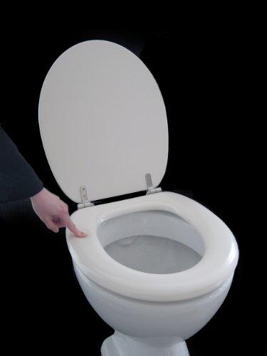 ADOB Polsi Soft WC Sitz gepolstert mit Edelstahlscharnieren, pergamon, 69564