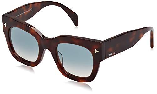 BALLY Damen BY0006-H Sonnenbrille, Braun (Dark Havana/Gradient Blue), 50