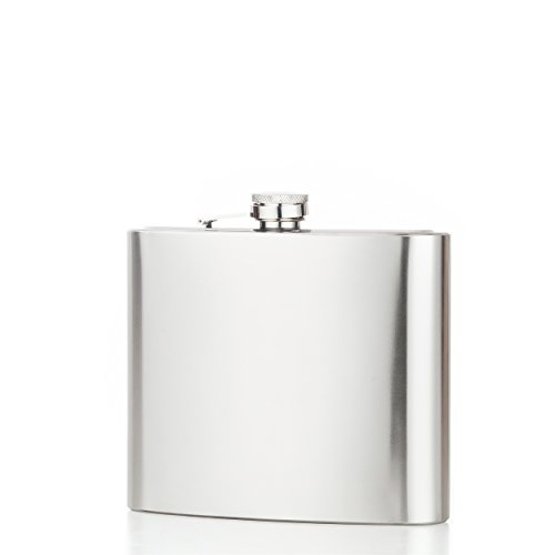 North Shire Portable Oversize Hip Flask for Alcohol Liquor Spirits Whiskey Vodka Stores 48 Ounces, Heavy Duty 304 Stainless Brushed Finishing 100% Leak Proof with Funnel