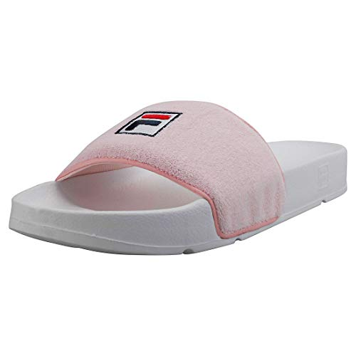 Fila Womens Chalk Pink/White Drifter Terry Slides-UK