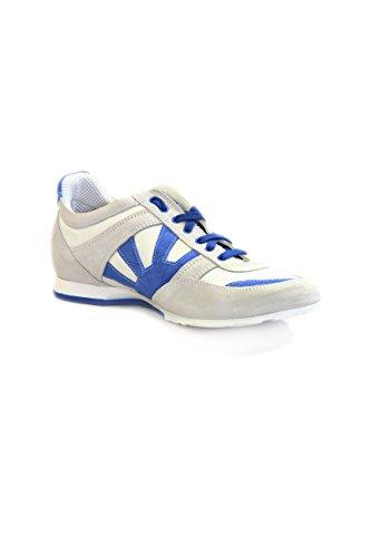 Kejo Chaussure Baskets mode hommes cuir Rouge Bleu - bleu