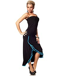 blue black evening dress one size 8 /10/salsa stylle fish tail mermaid maxi long 2 in 1 as SKIRT or dress outfit