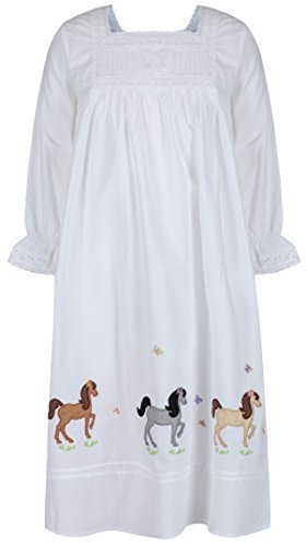 31xVaXhFJCL The 1 for U Girls 100% Cotton Nightgown Horse Pony Nightie Age 4 12 Jessica (Age 10 12) UK best buy Review