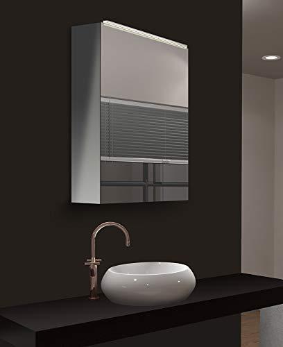 *Talos Mirage LED Spiegelschrank- Lichtfarbe 4200K – Aluminiumkorpus – 50x 60 cm*