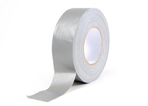 Premium Gewebeband 4 Rollen 50mm x 50m Silber matt Gaffa Tape Panzertape