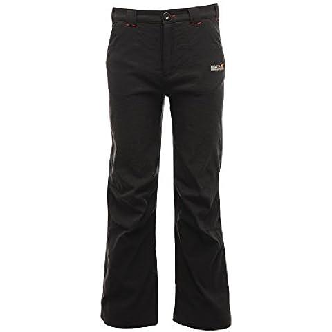 Regatta Bambini Dayhike impermeabile pantaloni da trekking RRP £50, Bambino, Black, 7-8 years (Waist 59-60 cm)