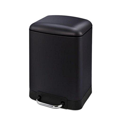 Cubo de basura Pedal simple Cubas de basura del acero inoxidable Cocina europea del tocador Sala de estar Lata de basura del dormitorio, 6L