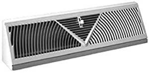 American Metal Products 3018W18-R Baseboard Diffuser, Sunburst, White Steel, 18-In. - Quantity 10