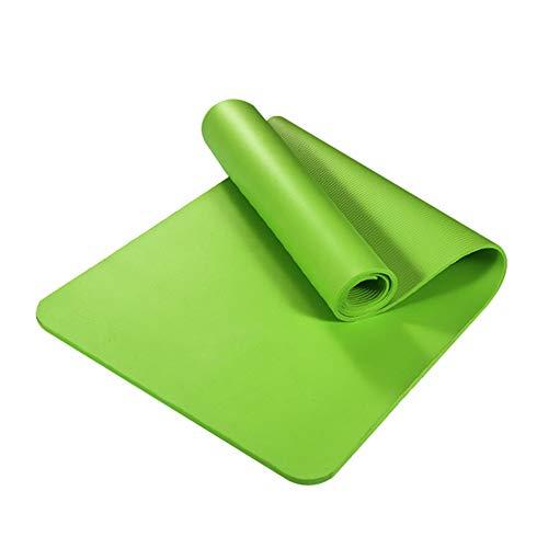 obiqngwi 10mm Yoga-Matte Anti-Rutsch verdicken NBR Gym Home Fitness Sport Pilates Mat Teppich Fitnessgeräte rutschfest - Grün -