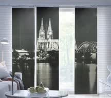 ikea schiebegardine motiv k lner dom. Black Bedroom Furniture Sets. Home Design Ideas