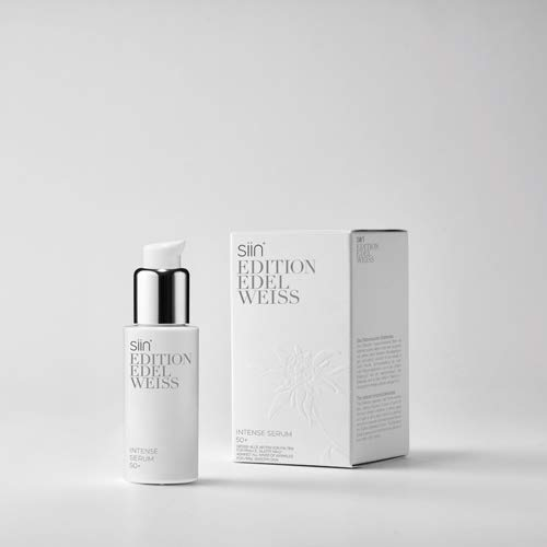 SIIN EDITION EDELWEISS - Intense Serum 50+, Dispenser 30ml - Edelweiss Creme - Anti Aging Creme - Anti Falten Serum - Tierversuchsfreie Hautpflege - Vegane Hautpflege