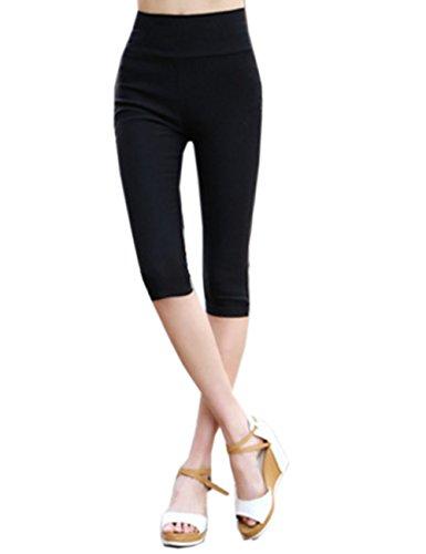 SOMTHRON Women's 16 Colors Summer Slim Casual Leisure Pants High Waist Pencil Pants Cropped 3/4 Leggings Active Capris Tights Yoga Leggings Trousers 4XXXXL