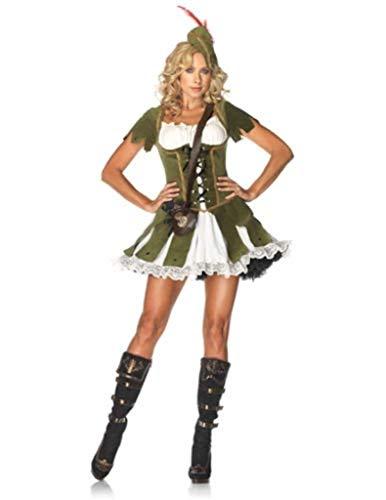 La bella vita Donne Costume in Sei Pezzi - Robin Hood Maid Marian Festival Birra Sgualdrina - Taglia 38-40