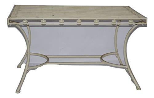 Decoratie Table d'appoint en Fer Ancien Blanc 103 cm