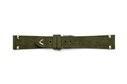 Vintage Wildleder Armband 18 19 20 22mm 20-16 grün - Mercier Uhr Baume Band Und