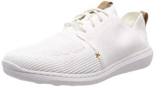 Clarks Step Urban Mix, Zapatillas para Hombre, Blanco (White-), 39.5 EU