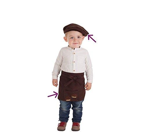 Disfraces Llopis Kit de Castañero para bebé: Delantal y Boina