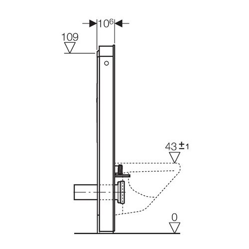 Geberit Monolith Sanitärmodul für Wand-WC 114 cm # 131031SI1