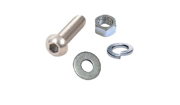 NUTS A2 STAINLESS STEEL SOCKET BUTTON DOME HEAD WASHERS M8 x 30MM x 5 SETS