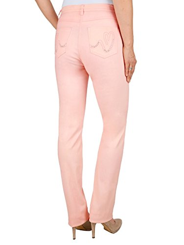 Damen Hose Laura Slim mit Stickerei by Laura Kent Schwarz