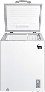 Midea Chest Freezer White Color, 142 Ltr Net Capacity, White Interior, Hidden condenser, HS186CN, 1 year warra