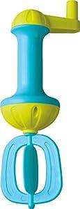 HABA 302657-Raqueta de Espuma de baño, Azul, Pato para más Espuma En la Bañera | Raqueta de Espuma con manivela para Girar | bañera Juguete a Partir de 3años