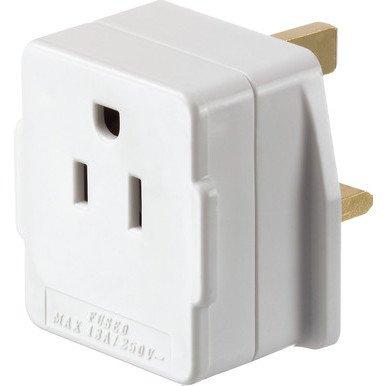 US/USA/CANADA (2/3-Pin) to UK (3-Pin) Mains Power Visitor Adaptor Converter...
