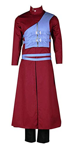 Gaara Shippuden Kostüm - Chong Seng CHIUS Cosplay Costume Outfit for Hidden Sand Village Kazekage Gaara Version 7