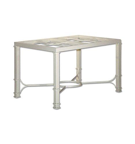 Mesa de forja Zaragoza - 7-Marfil (color con incremento de precio), mesa de 120x75x74 cm. de alto