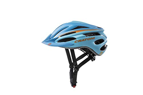 Cratoni Fahrradhelm Helm Pacer, Blue-Orange Matt, Gr. S-M (54-58 cm)
